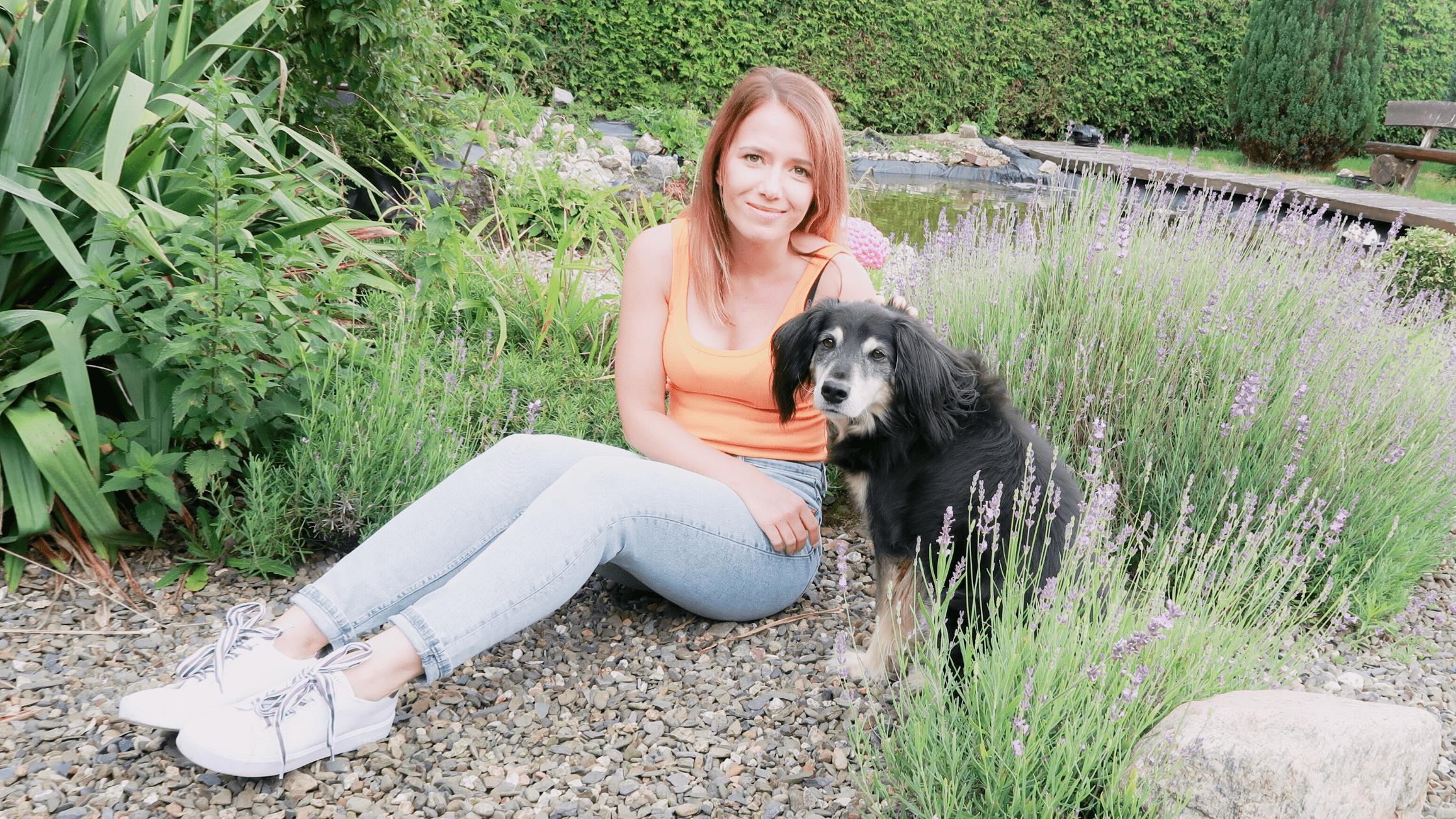 Jessica Roussel und Hund Daimond