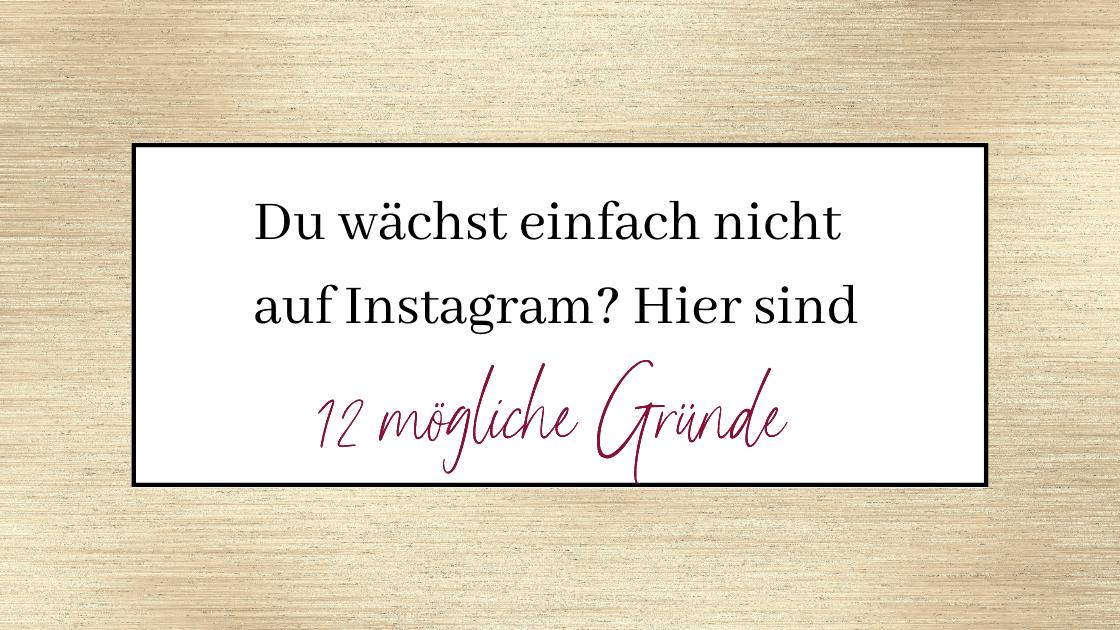 instagram wachstum stagniert