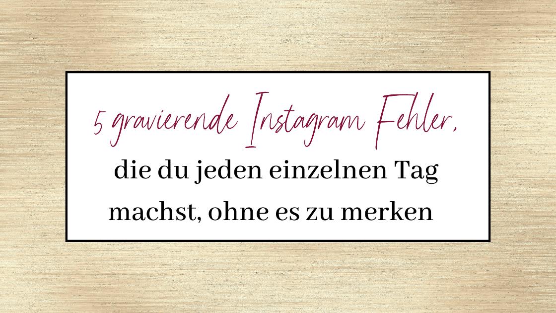 instagram fehler