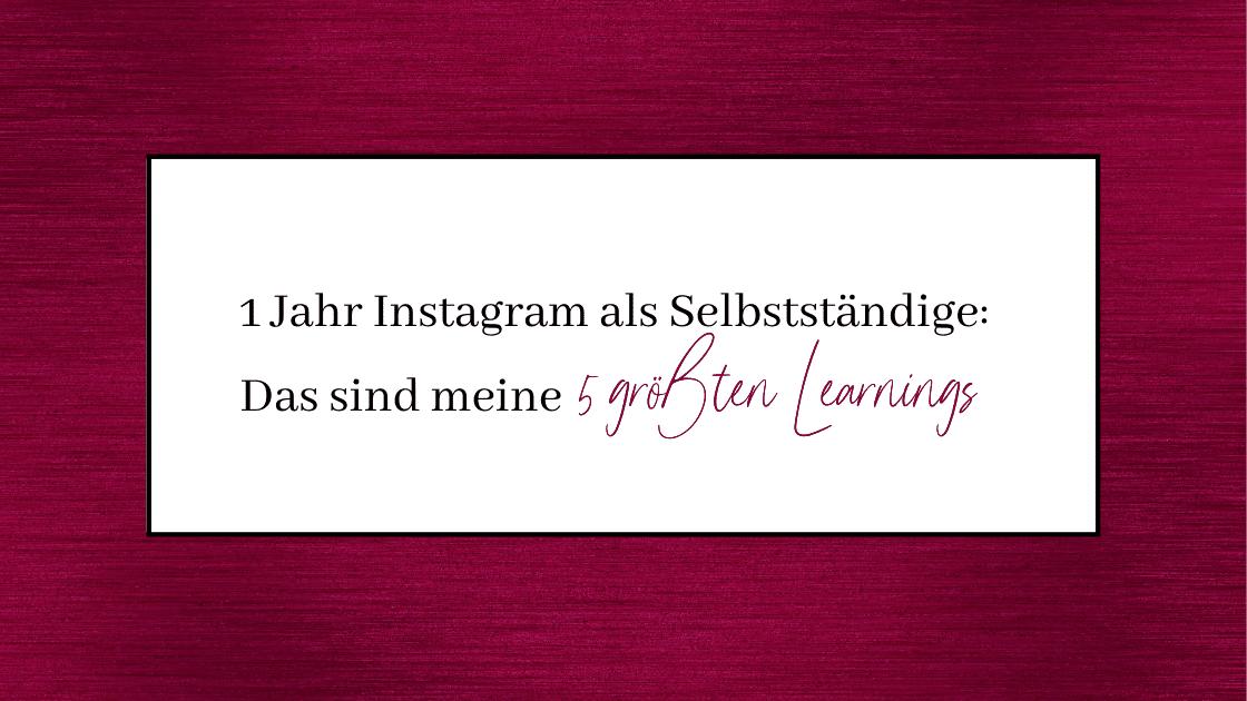 instagram learnings